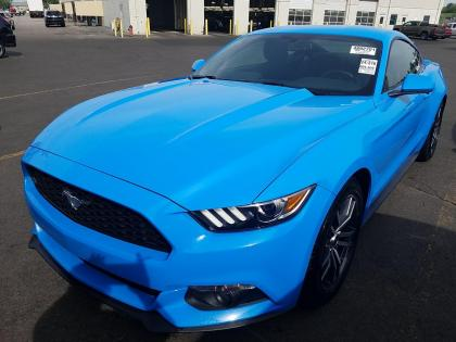 2017 FORD MUSTANG ECOBOOST - BLUE ON BLACK