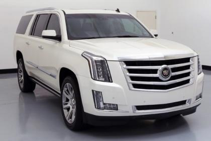 2015 CADILLAC ESCALADE ESV - WHITE ON GRAY