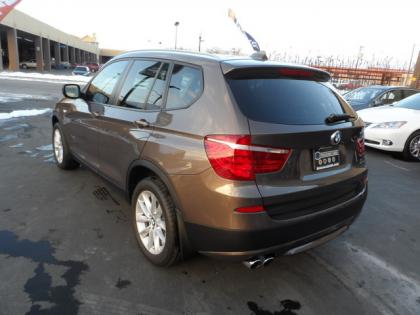 export used 2013 bmw x3 xdrive28i brown on white. Black Bedroom Furniture Sets. Home Design Ideas