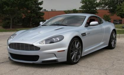 2009 ASTON MARTIN DBS COUPE - SILVER ON RED