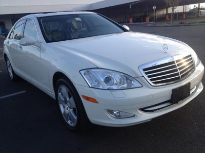 2007 MERCEDES BENZ S550 4MATIC - WHITE ON BLACK 2