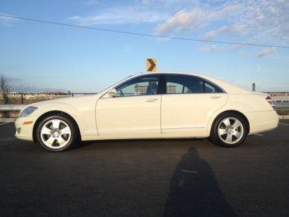 2007 MERCEDES BENZ S550 4MATIC - WHITE ON BLACK 4