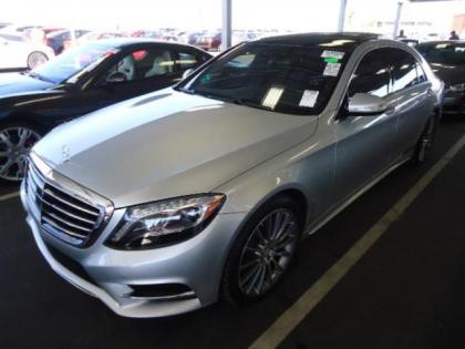 2014 MERCEDES BENZ S550 BASE - SILVER ON BLACK 1
