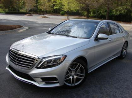 2014 MERCEDES BENZ S550 BASE - SILVER ON BLACK
