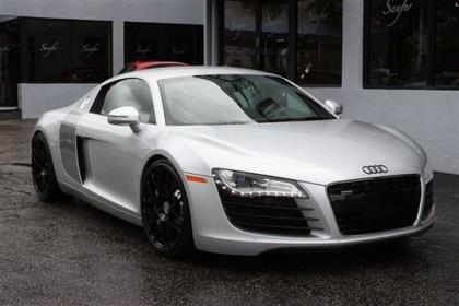 export used 2008 audi r8 r tronic silver on black. Black Bedroom Furniture Sets. Home Design Ideas